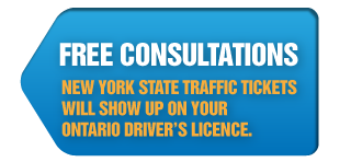 Free Consultations | New York State Traffic Tickets will show up on your Ontario Driver's Licence